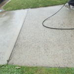 Concrete Driveway Pressure Cleaning After