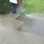 Concrete Driveway Pressure Cleaning Before