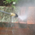 High Pressure Brick Cleaning Before