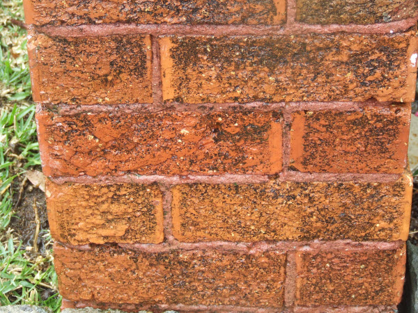High Pressure Brick Cleaning After